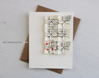 origami card | 1st anniversary card | origami flower greeting card || wedding card | A2 card with envelope -6 multi petals