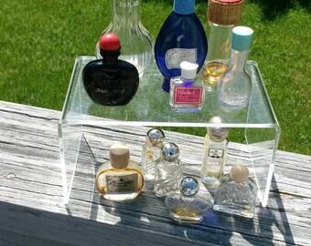 Vintage empty perfume bottles lot of 12