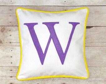 Personalized Pillow cover  Custom colors, monogrammed dorm decor, letter pillow case, wedding gift, Monogram sham