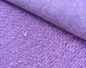 Hemp Organic Cotton Terry 340 gsm - Pastel Lilac