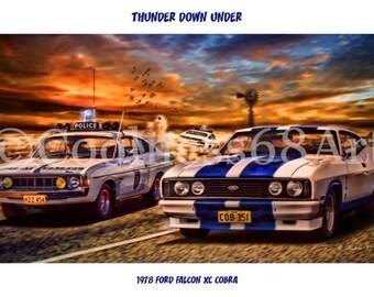 1978 Ford Falcon XC Cobra Original Art Print
