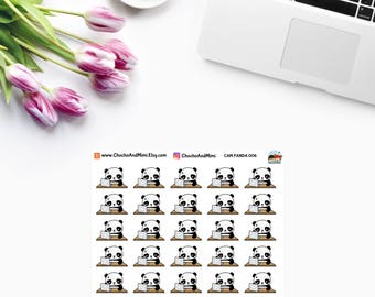 Amanda The Panda ~ Project Due ~ Work ~ Deadline ~ Planner Stickers CAM PANDA 006