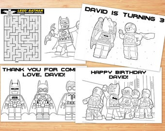 Lego Batman Birthday Coloring Pages, 4 Lego Batman Printable Coloring Pages, Lego Batman Activity Coloring Pages, Lego Batman