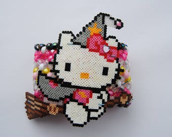 Hello Kitty Witch Halloween Kandi Cuff