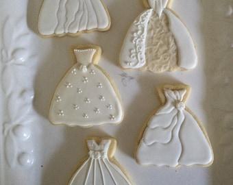 Wedding dress cookies 1