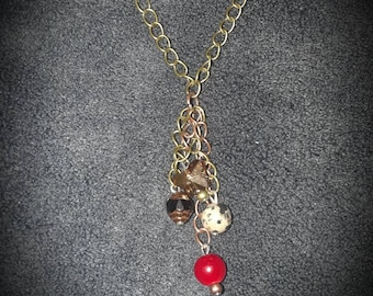Flutter By Butterfly  Necklace on Bronze Chain