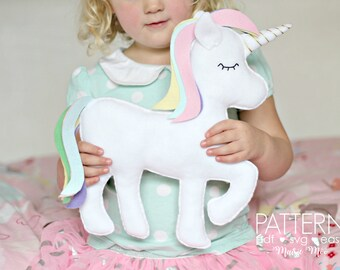 Unicorn Pattern Unicorn SVG Felt Toy Unicorn Plush Pattern Unicorn Pillow Unicorn Gift Felt Unicorn Pattern Unicorn Decor Kawaii Unicorn