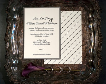 Couture Letterpress Wedding Invitation with double sided printing | Modern Wedding Invitation Suite | Handmade Wedding Invitation Suites