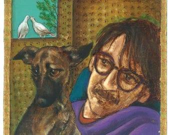 Custom portrait and Pet portrait illustration