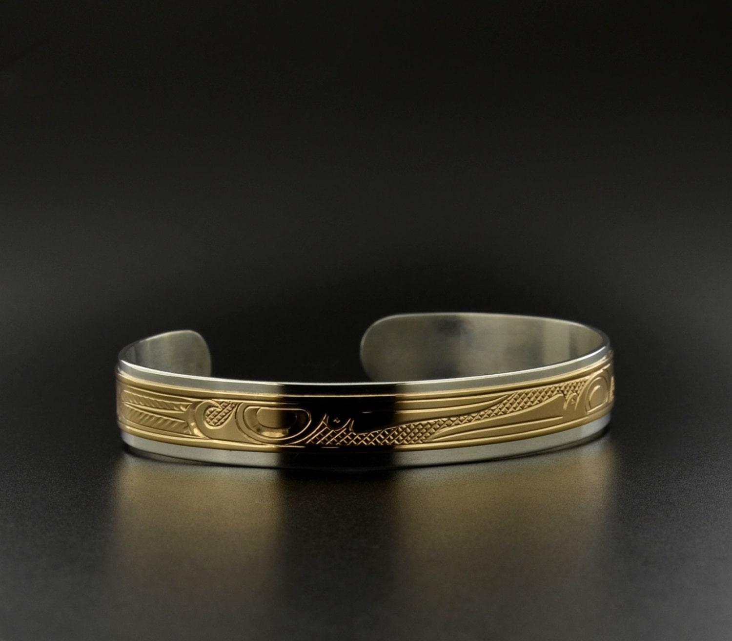 14k gold on sterling band reverse hummingbirds design zoom biocorpaavc Gallery
