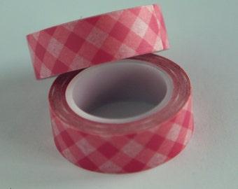 Washi Tape: PINK PLAID