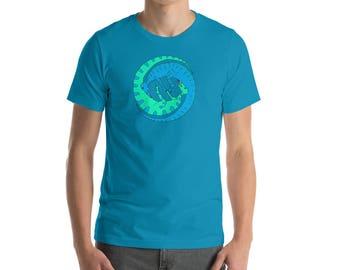 Queer Dinosaurs #3 AQUA BLUE | Short-Sleeve Unisex T-Shirt