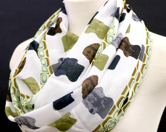 Lab retriever infinity scarf Labrador dog scarves pup loop Scarf Women puppy birthday Gift for her anniversary present for girlfriend wife