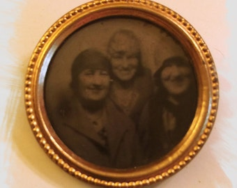 Portrait Brooch - Made in Holland - 1920's