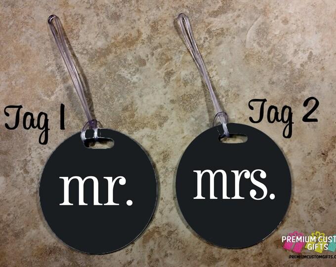 Set of 2 Custom Mr and Mrs Bag Tags - Custom Travel Luggage Tag - Personalized Bag Tags - Bag Custom Tag - Personalized Tag - Design #BT119