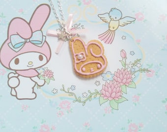 necklace biscuit kawaii melody polymer clay