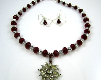 Ruby Crystal & Quartz Necklace