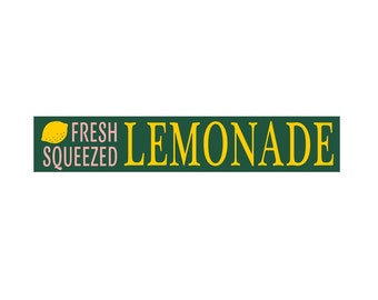 Fresh Squeezed LEMONADE 4 x 22 Stencil - Create your own lemonade stand sign!