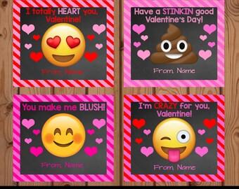 Emoji Valentine, Emoji Valentine Cards, Emoji Valentine Cards for Kids, Emoji Valentine Kids, Poop Emoji Valentines Card, Emoji Valentines