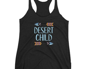 Desert Child Tank - Desert Tank - Festival Clothing Women - Boho Tank Tops for Women - Southwestern Tank Top - Boho Feather Tank -
