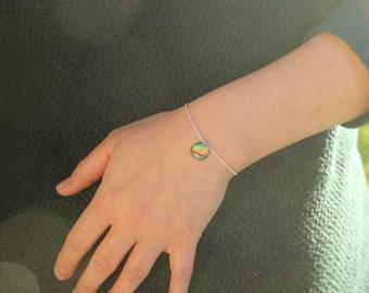 Paua shell bracelet, abalone jewelry, shell jewellery, beach jewellery, mermaid jewelry, nature inspired, sterling silver, abalone bracelet