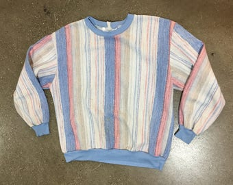 80's Striped Sweatshirt