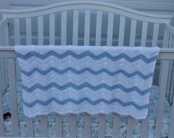 Baby Blanket afghan wrap crocheted