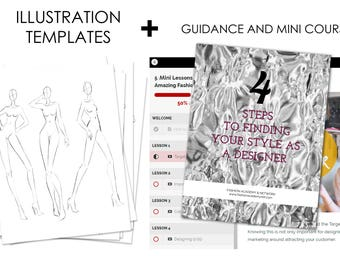 Fashion Illustration Templates for Beginners Instant Download (Female Croquis, Male Croquis, Kids Croquis) +Online Guidance and Mini Lessons