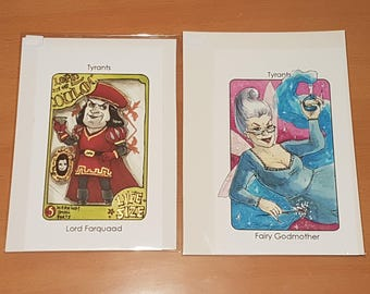 Villain Clans Lord Farquaad (Shrek) and Fairy Godmother (Shrek 2) - A6/A5/A4 prints on acrylic paper