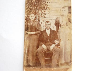Antique Photograph, History, Sepia, Posed Portrait