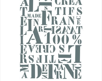 """Creative Factory"" deco factory or industrial stencil"