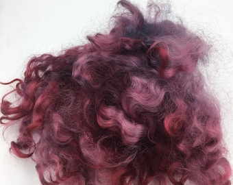 Hand Dyed Purple Mix Lincoln Longwool, 50g
