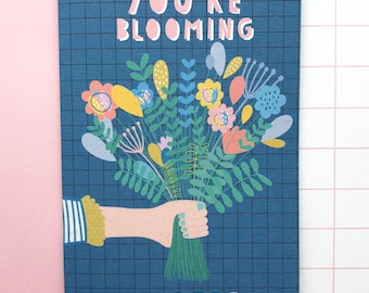 You're blooming super! Thank you card. Congratulations card