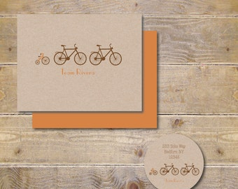 Baby Thank Yous,  Baby Thank You Cards,  Baby Shower Thank You Cards, Baby Shower Thank You Notes, Bike Thank You Notes, Bikes - Bike Team