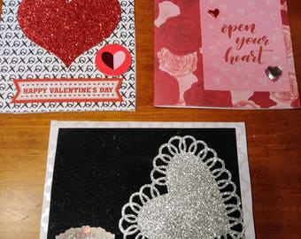Hearts and Flowers Valentine's Card Pack
