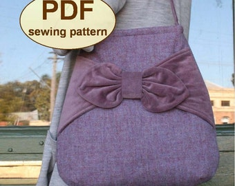 Sewing pattern to make the Village Post Bag  - PDF pattern INSTANT DOWNLOAD