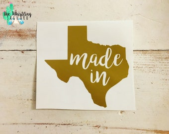 Made In Texas Decal - Texas Car Decal - Texas Pride Decal