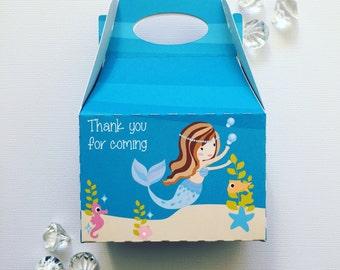 Mermaid treat boxes