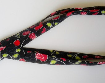 Breakaway Safety Extra Long Lanyard in Rose Cotton Fabric for Nurses