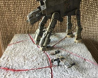 Star Wars Last Jedi AT-M6 battle diorama