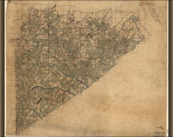 Poster, Many Sizes Available; Map Of Prince George Co., Virginia 1864