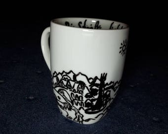 Lord of the Rings-mug-Middle Earth design