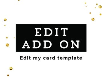 ADD ON LISTING - Edit My Card Template - Add On Graphics for an Instant Download Item