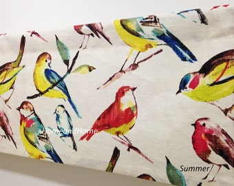 Valance 50x 16 window valance decorative valance Topper Linen Blend Birdwatcher Summer Kitchen Valance Bird valance Window valance