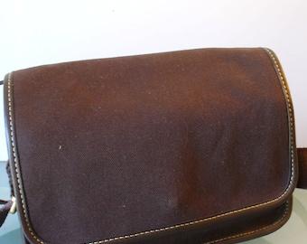 Lands' End  Canvas and  Leather Shoulder Bag