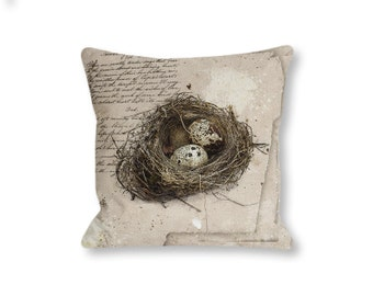 Quail's Nest - Premium Sepia Edition - Perfect Idea for a Throw Pillow - Instant Download - DIY Cottage Chic Home Decor
