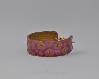 Child Size Cuff Bracelet - Girl's Bracelet - Polymer Clay Cuff - Extra Small Cuff Bracelet - Gift for Her - Polymer Clay Bracelet
