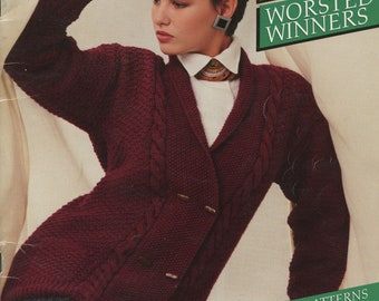 Family Sweaters Bouquet Knitting Pattern Book 1203 (Worsted Winners); Bouquet; Very Good; USED