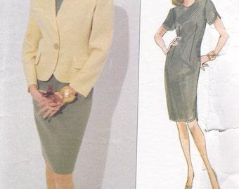 Misses Jacket & Dress Pattern - Sizes 12 -14 -16 Vogue Bill Blass Designer Pattern No 1115 ~ Semi Fitted Jacket ~ Shaped Hem Dress ~ Uncut