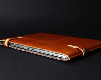 "super slim New 15"" MacBook Pro folio leather sleeve padded wool felt lining MacBook 15"" Pro retina leather sleeve case laptop cover"